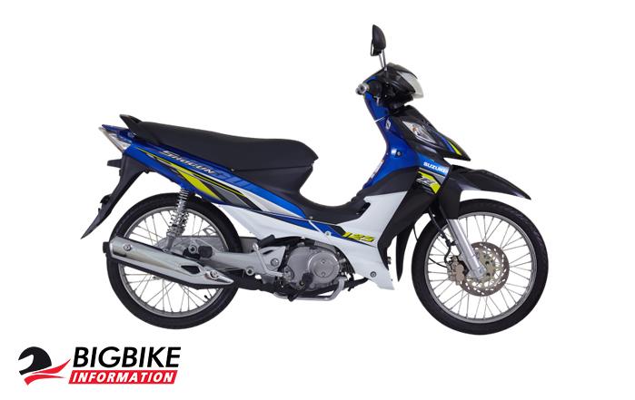 ซูซูกิ โชกัน 125 สีน้ำเงิน – ขาวดำ