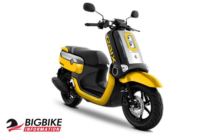 สี ยามาฮ่า คิวบบิกซ์ เอส ปี 2018 สีเหลือง-ดำ-เทา