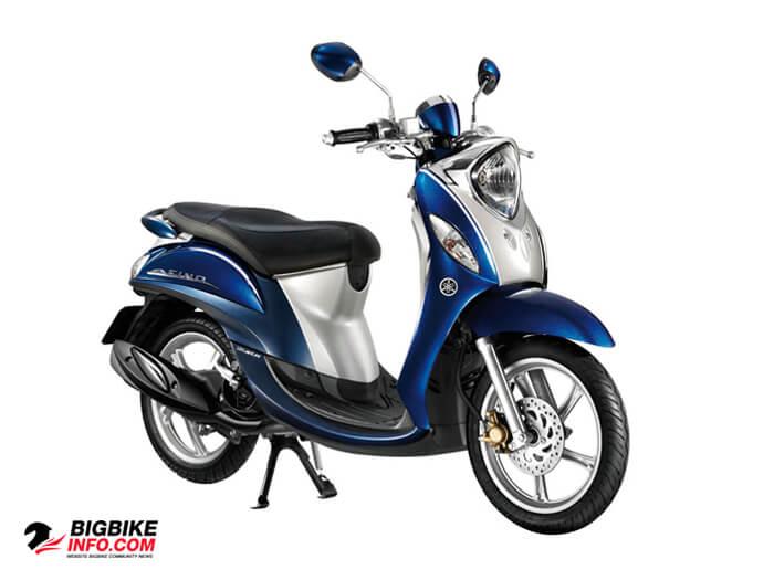 Yamaha Fino Premium Vintage ปี 2015 สีน้ำเงิน-ขาว