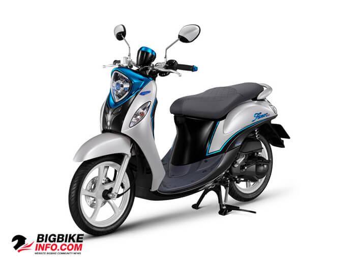 Fino 125 ปี 2015 รุ่น Deluxe สีขาว-ดำ-ฟ้า