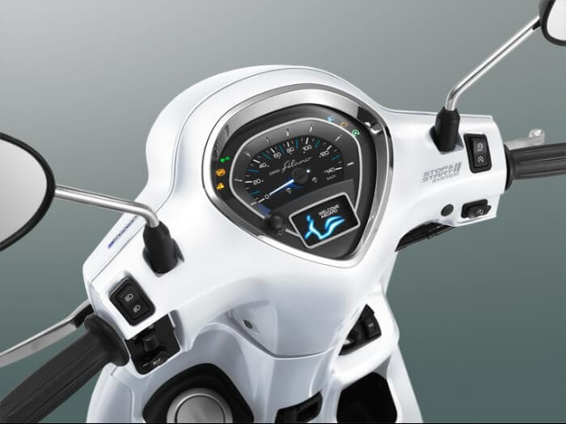 Yamaha Grand Filano Hybrid ปี 2019 แผงหน้าปัด TFT