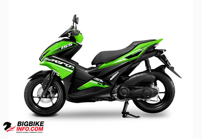 ยามาฮ่า แอร็อกซ์ 155 ปี 2019 รุ่น STD Version สีเขียว-ดำ