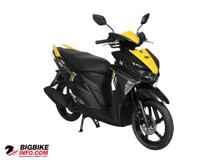 สี ยามาฮ่า จีที 125 ซีโอซี รุ่น Standard Version สีดำ-เหลือง