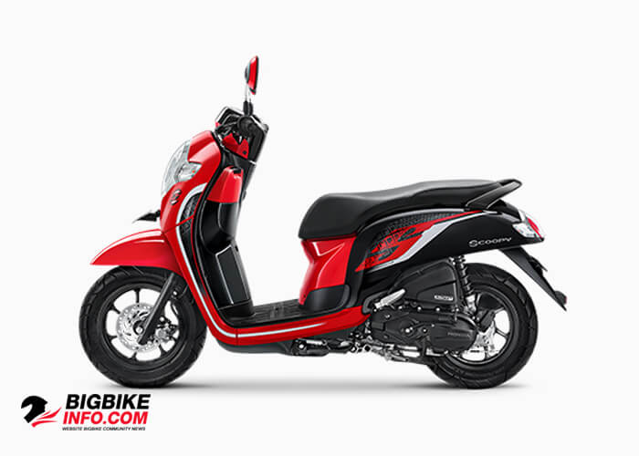 Honda Scoopy eSP ปี 2019 รุ่น Sporty สี Red