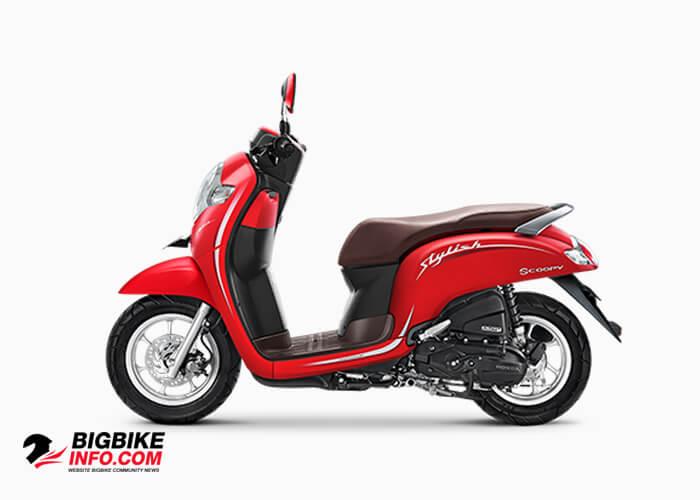 Honda Scoopy eSP ปี 2019 รุ่น Stylish สี matte red