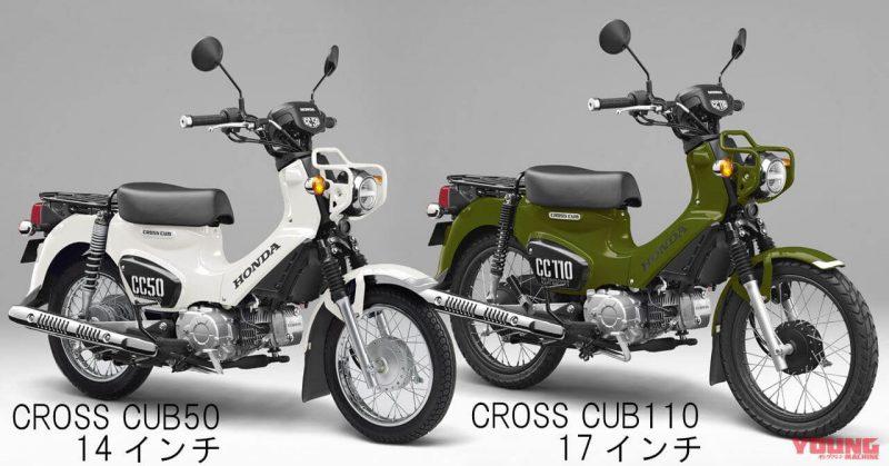 Honda Cross Cab 110 และ Cross Cab 50 สีขาวและสีเขียว