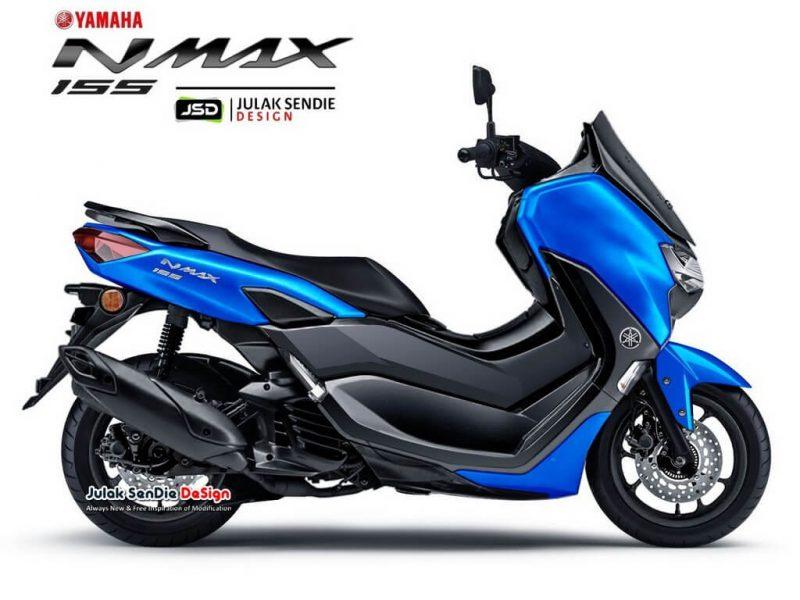 All New Yamaha Nmax 155 สีฟ้า