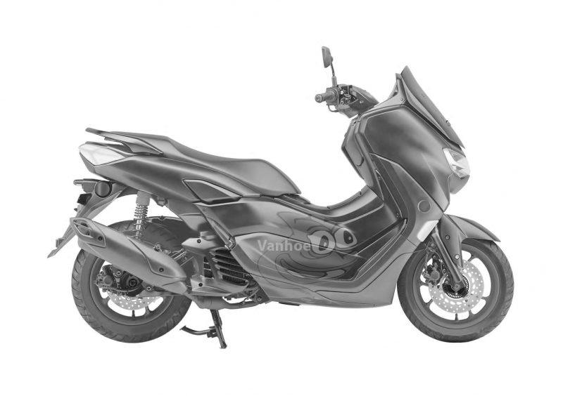 All New Yamaha NMAX ภาพขาวดำ ด้านข้าง