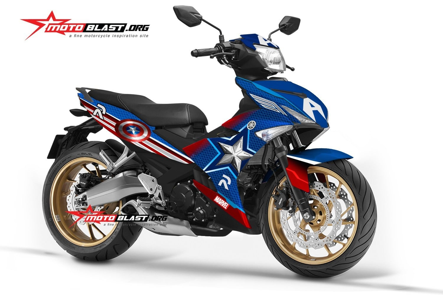 Yamaha Mx King 150 รุ่น Captain America