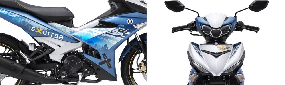 Yamaha Exciter 150 SE สีขาว-ฟ้า