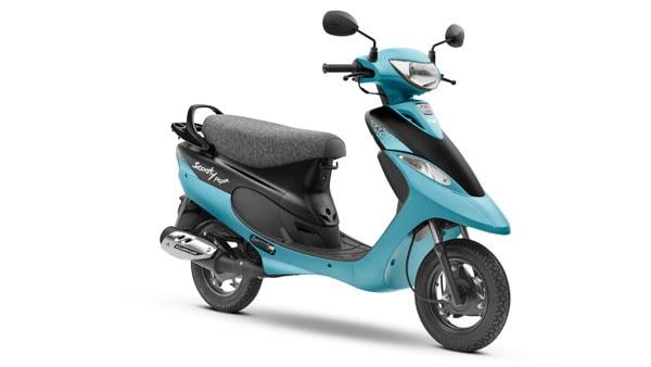 Scooty Pep Plus สีฟ้า