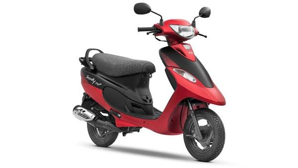 Scooty Pep Plus สีแดง