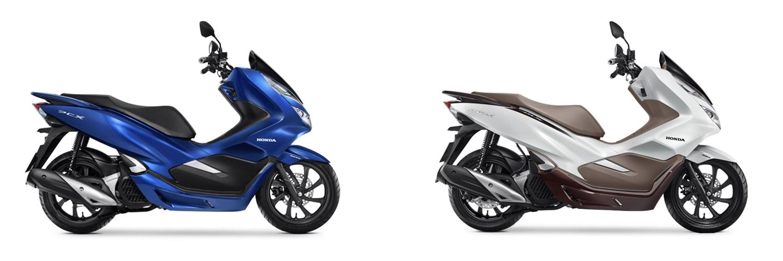 PCX150 2020 สีน้ำเงินและสีขาว-น้ำตาล
