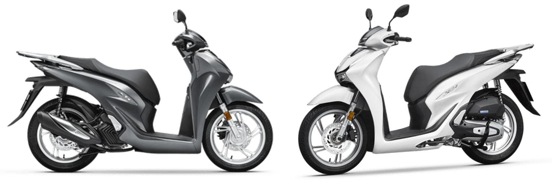 SH125 2020 สีเทาและสีขาว