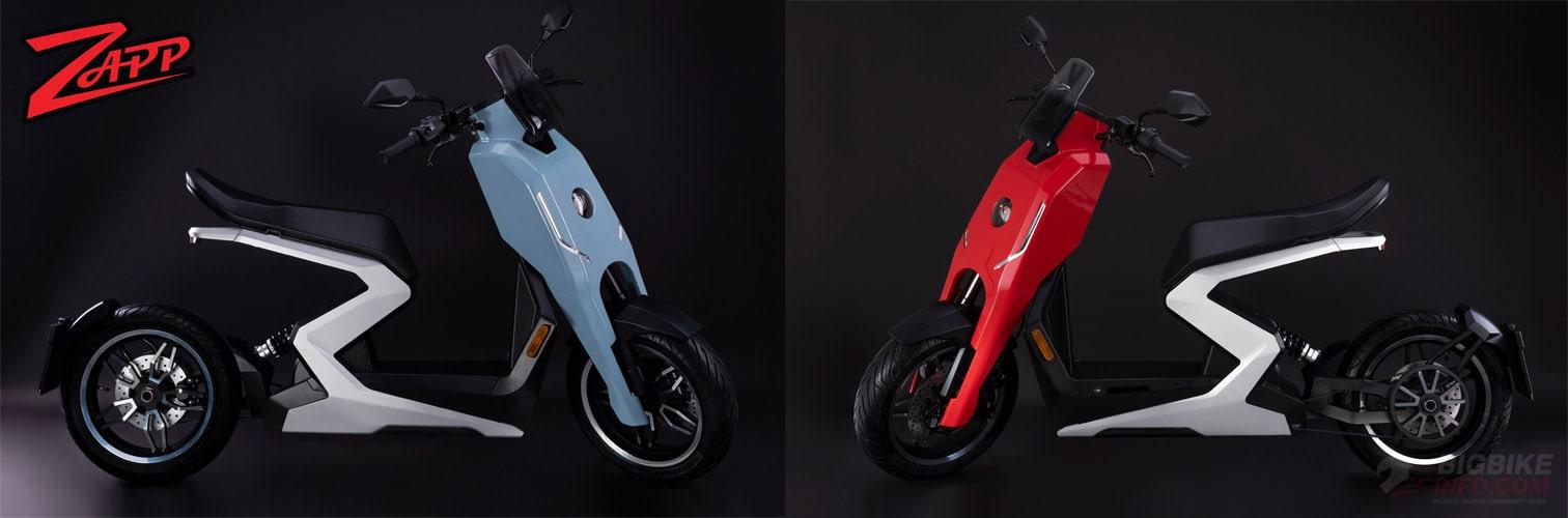 Zapp i300 สีฟ้าและสีแดง