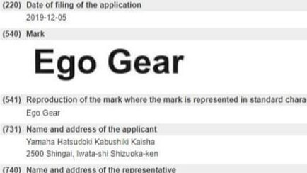 ชื่อรุ่นที่เผยในเว็บเป็นชื่อรุ่น ยามาฮ่า Ego Gear