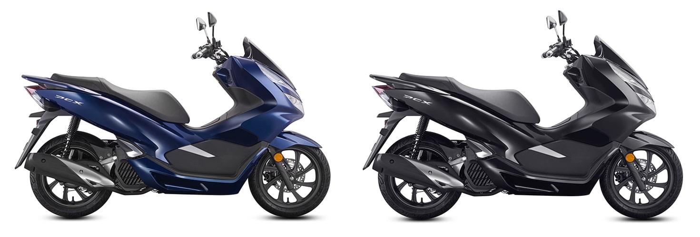 PCX 150 2020 ในจีนสีน้ำเงินและสีดำ