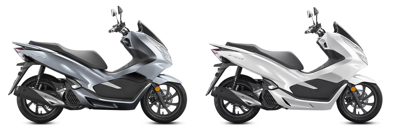 PCX 150 2020 ในจีนสีเทาและสีขาว