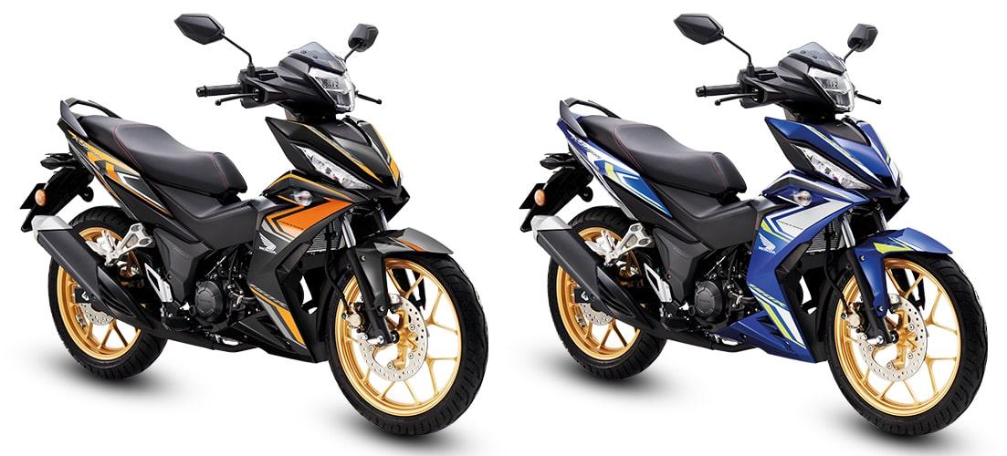 RS150R 2020 ใหม่ สีดำและสีน้ำเงิน