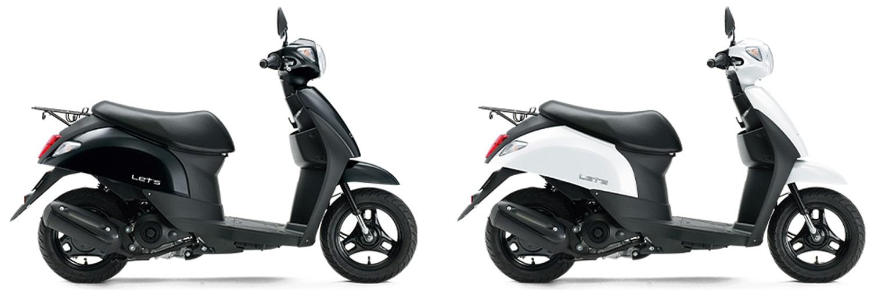 Suzuki Let's 50 2020 สีดำและสีขาว