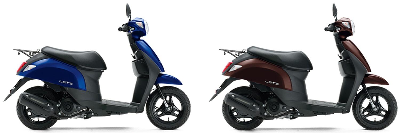 Suzuki Let's 50 2020 สีน้ำเงินและสีน้ำตาล