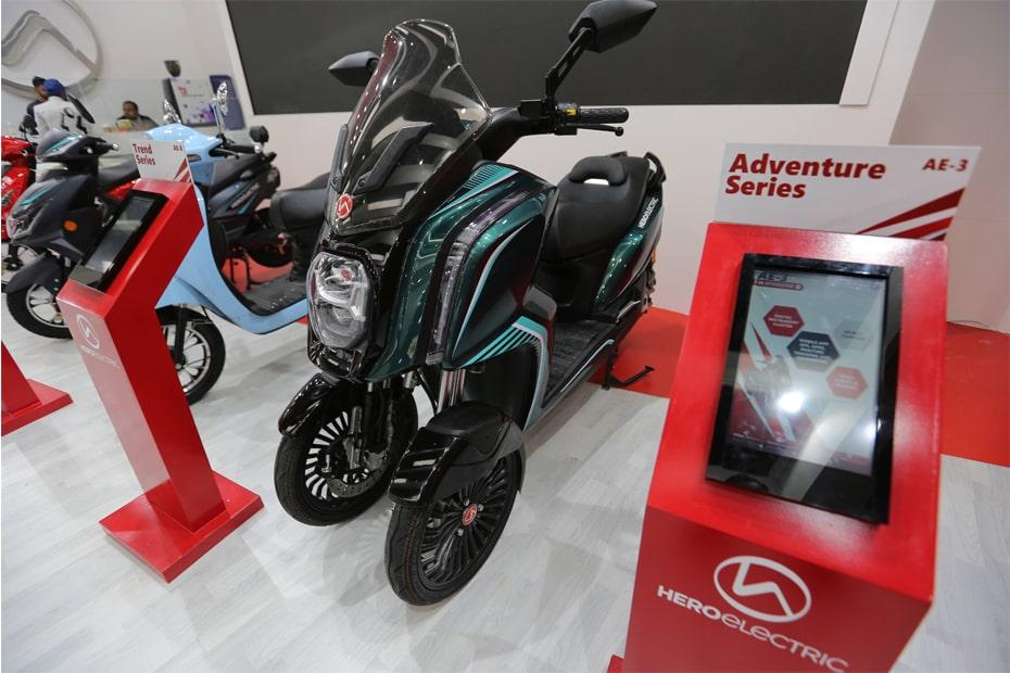 สกูตเตอร์ไฟฟ้า Hero AE-3 2020 เปิดตัวที่อินเดียในงาน Auto Expo 2020