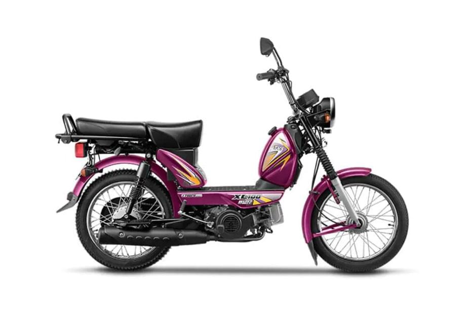 ใหม่ TVS XL100 2020 มอเตอร์ไซค์สีสันสุดจี๊ด จำหน่ายที่อินเดีย