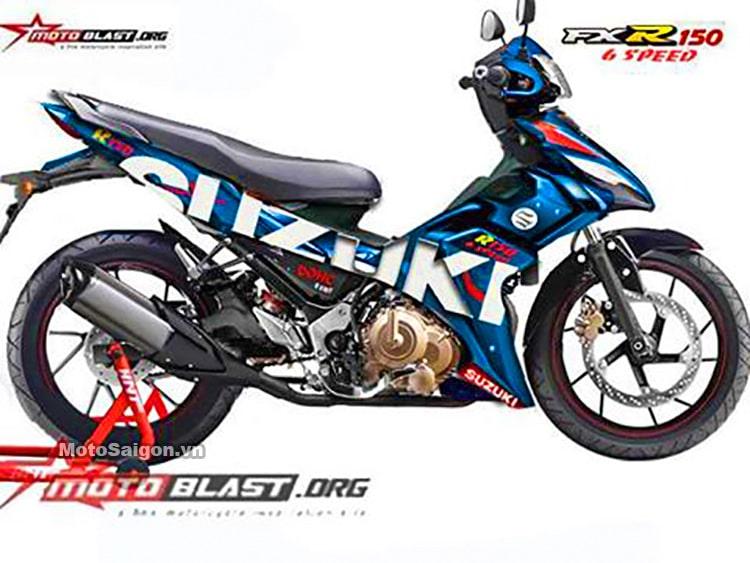 เผยการออกแบบกราฟิก Suzuki FXR150 2021