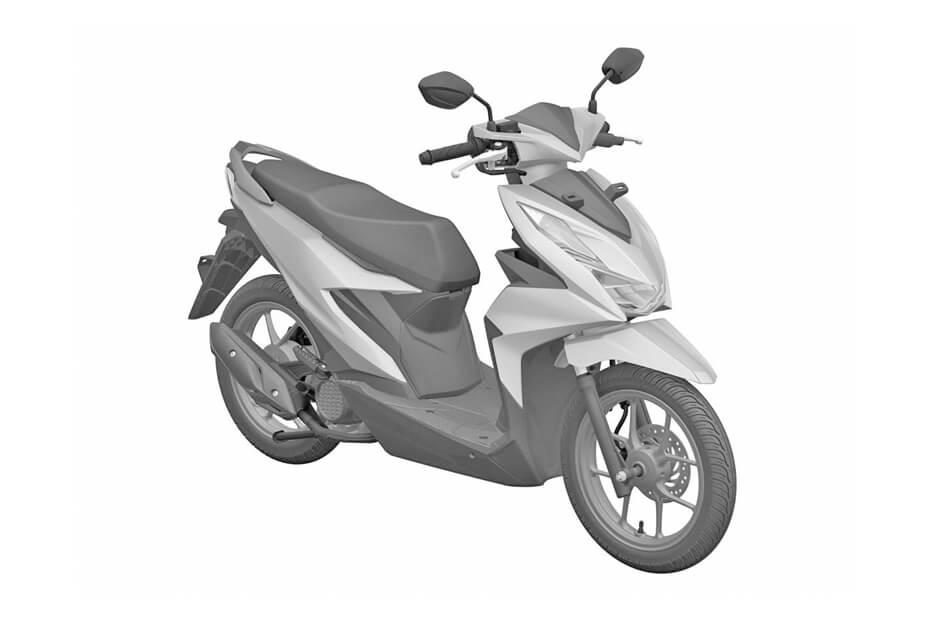 เผยการจดสิทธิบัตรยุโรป Honda Beat กับการออกแบบไฟหน้าแบบ LED