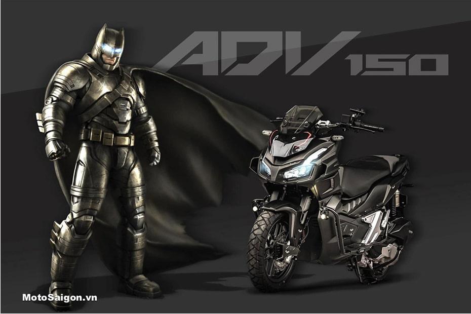 เผยการออกแบบ Honda ADV 150 รุ่น Batman สไตล์ซูเปอร์ฮีโร่