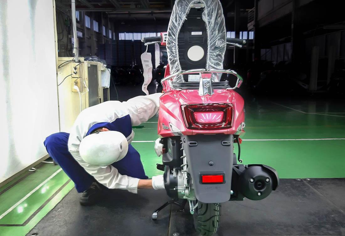 Suzuki Saluto 125 ภาพจากโรงงานไต้หวัน