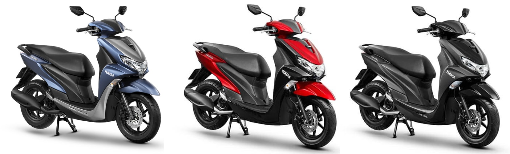 Yamaha Freego 2020 สีน้ำเงิน, สีแดง-ดำและสีดำ