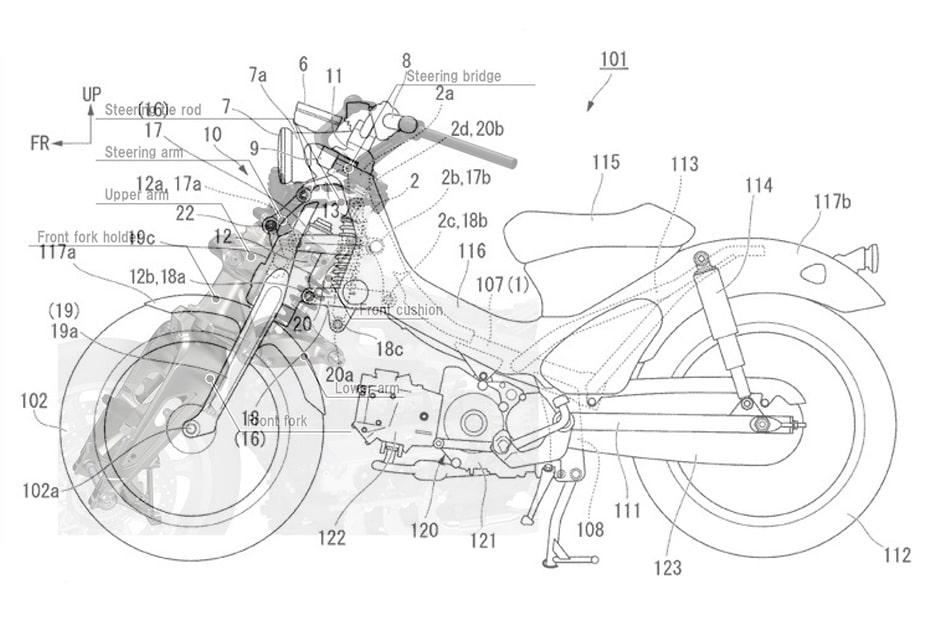 เผยภาพร่างสิทธิบัตร Honda Super cub ระบบกันสั่นสะเทือนที่คล้ายกับ Goldwing