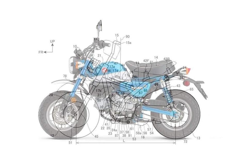 เผยสิทธิบัตร Honda เตรียมพัฒนา Monkey ใหม่ขนาดใหญ่กว่าเดิม
