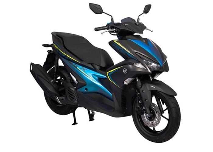 ยามาฮ่า Aerox 155 2020 สีดำ-ฟ้า