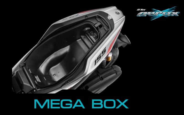 All New Yamaha Aerox 155 2021 กล่องเก็บของใต้เบาะ