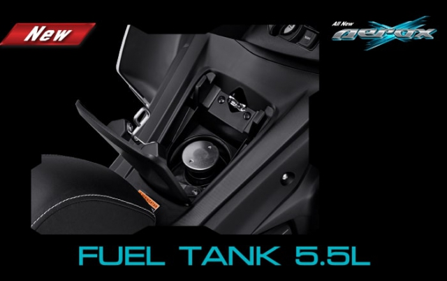 All New Yamaha Aerox 155 2021 ช่องเติมน้ำมันด้านหน้า