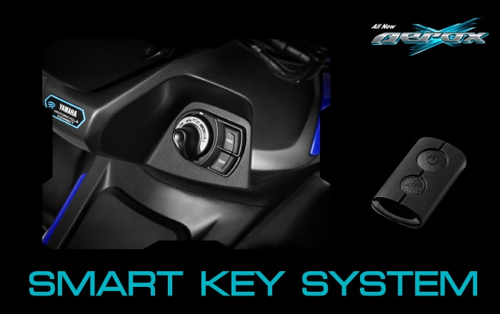 All New Yamaha Aerox 155 2021 SMART KEY SYSTEM