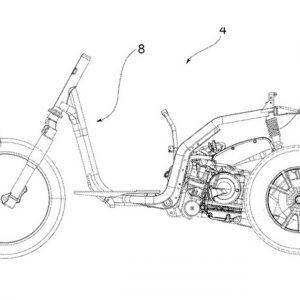 Piaggio สิทธิบัตรจักรยานยนต์ 3 ล้อ
