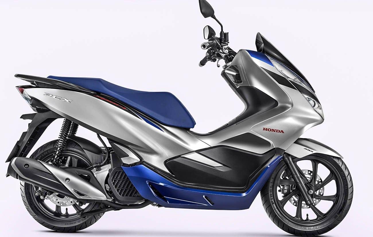 ฮอนด้า PCX 150 เวอร์ชั่น 2020 สีเทา-ฟ้า