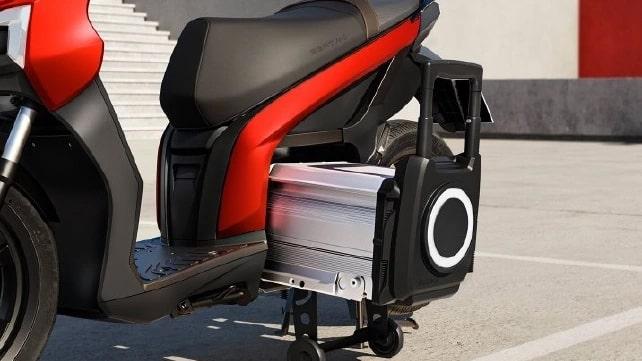eScooter 125 ช่องแบตเตอรี่