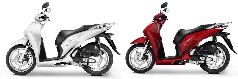 ฮอนด้า SH150i 2020 สีขาวและสีแดง