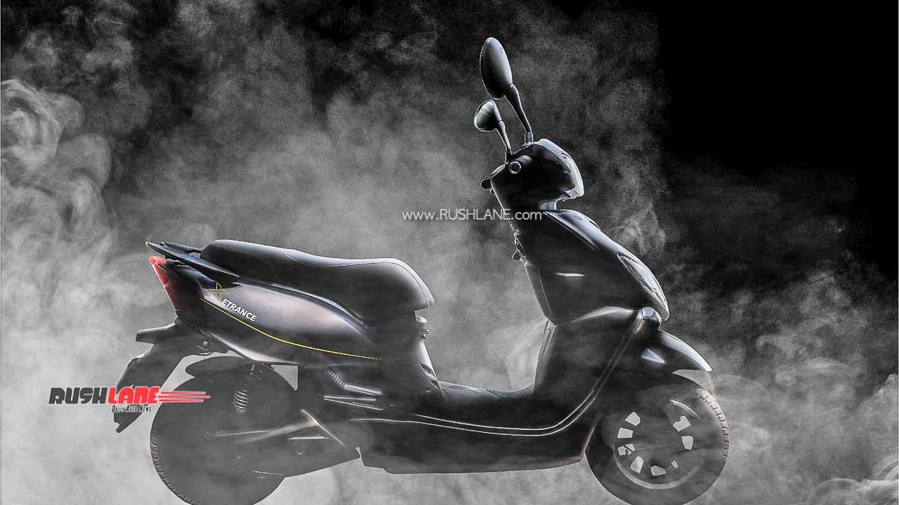 ETrance Plus จักรยานยนต์ไฟฟ้าสีดำ
