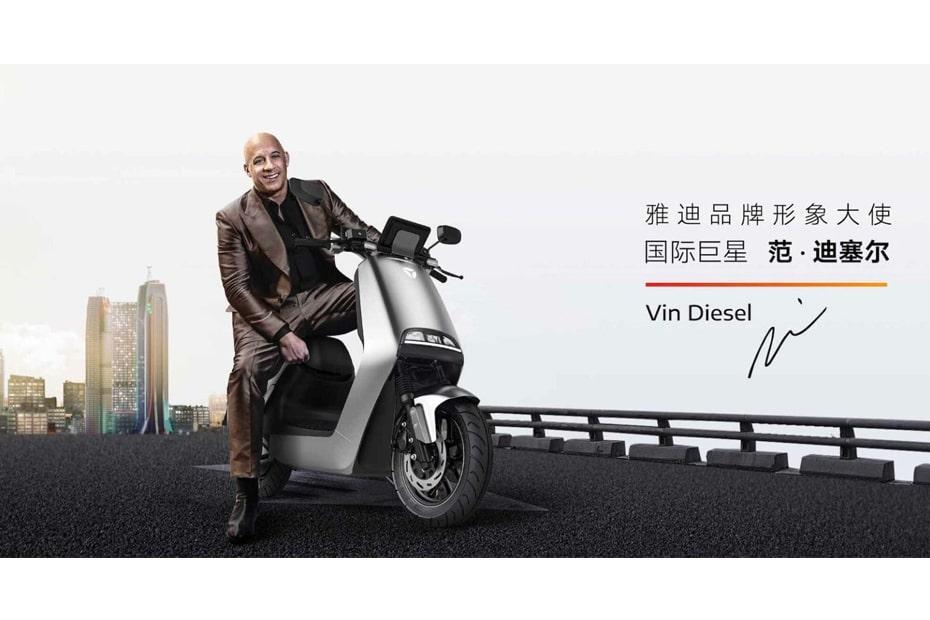 เผยภาพสกูตเตอร์ไฟฟ้า Yadea G5 พร้อมกับดารา Vin Diesel