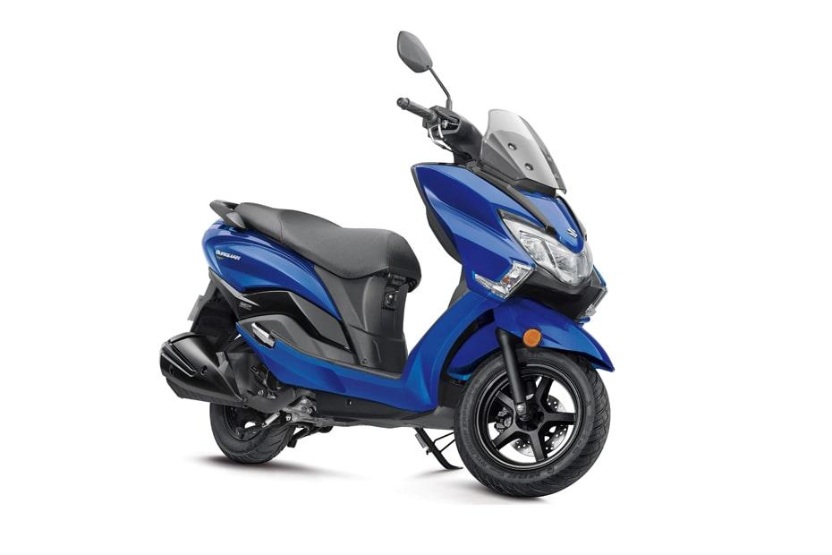 สีน้ำเงินใหม่ Suzuki Burgman Street 125 2020 เตรียมจะเปิดตัวในงาน Auto Expo