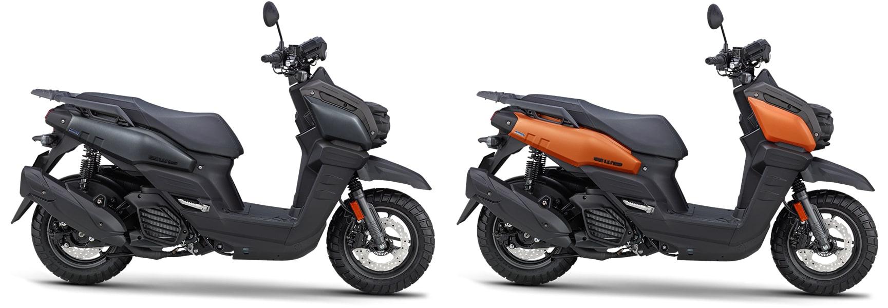 ยามาฮ่า bws 125 ปี 2021 สีดำแมทและสีส้ม