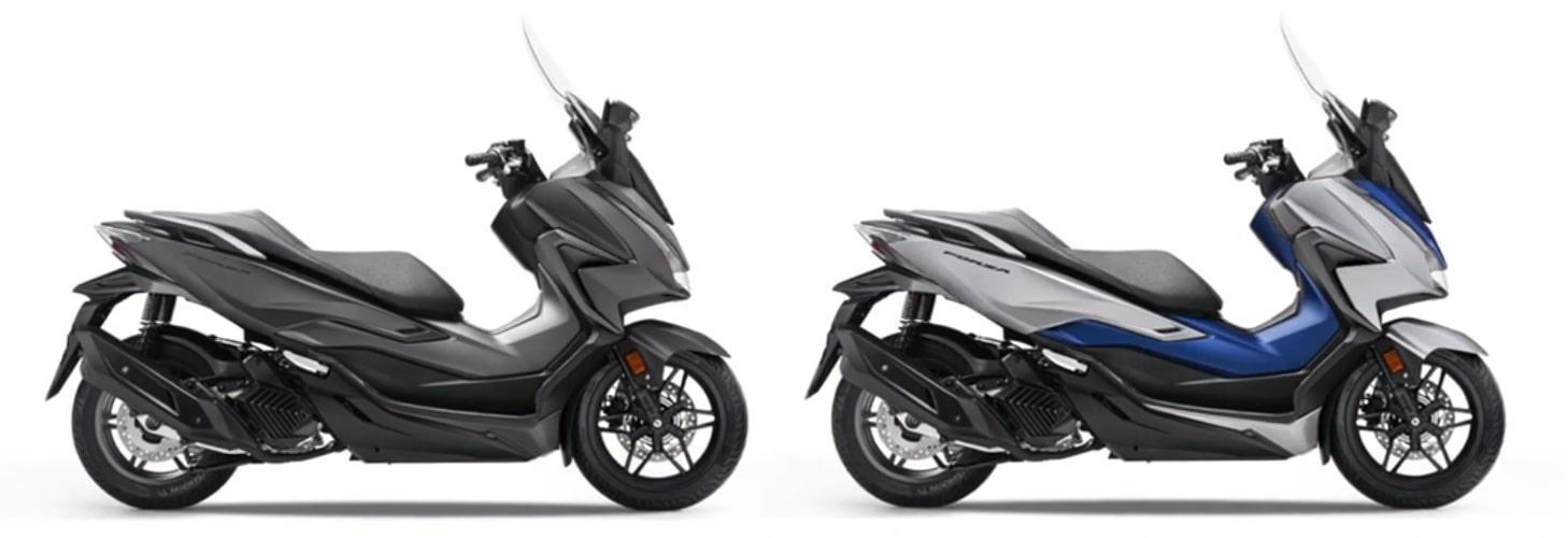 ฮอนด้า Forza 125 2021 สีเทาและสีน้ำเงิน