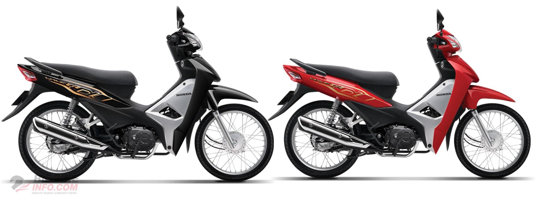 ฮอนด้า Wave Alpha 110 2020 สีใหม่ สีดำและสีแดง