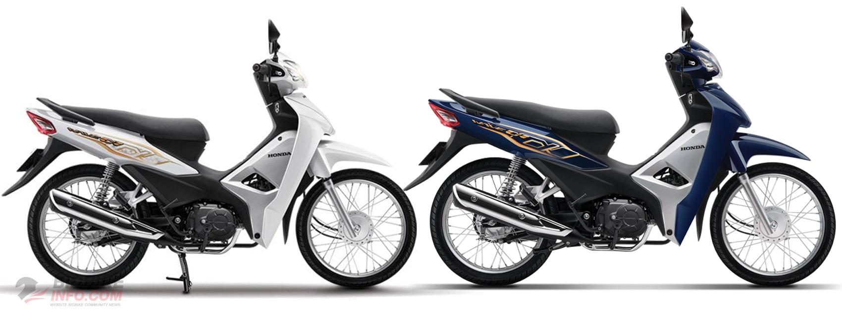 Honda Wave Alpha 110 2020 สีใหม่ สีขาวและสีน้ำเงินเข้ม