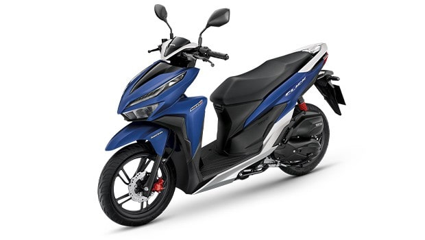 New Honda Click สีน้ำเงินใหม่